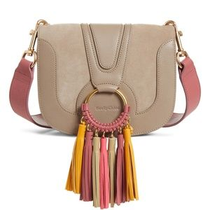 See by Chloe Hana Leather Shoulder Bag - Grey